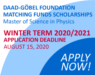 DAAD-GOEBEL SCHOLARSHIPS Winter Term 2020